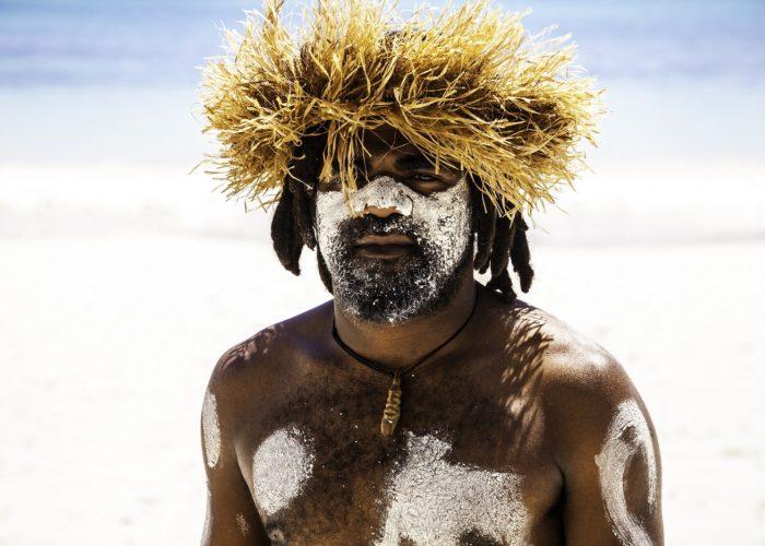 Ile des Pins, Danseur de Gadji, Nouvelle Caledonie ©SebastienLEBEGUE