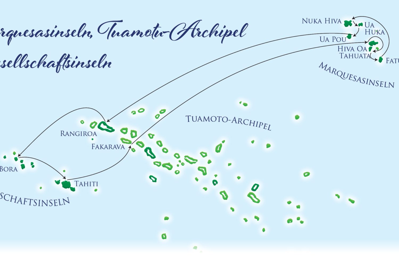 Karte - Marquesas Islands 2021