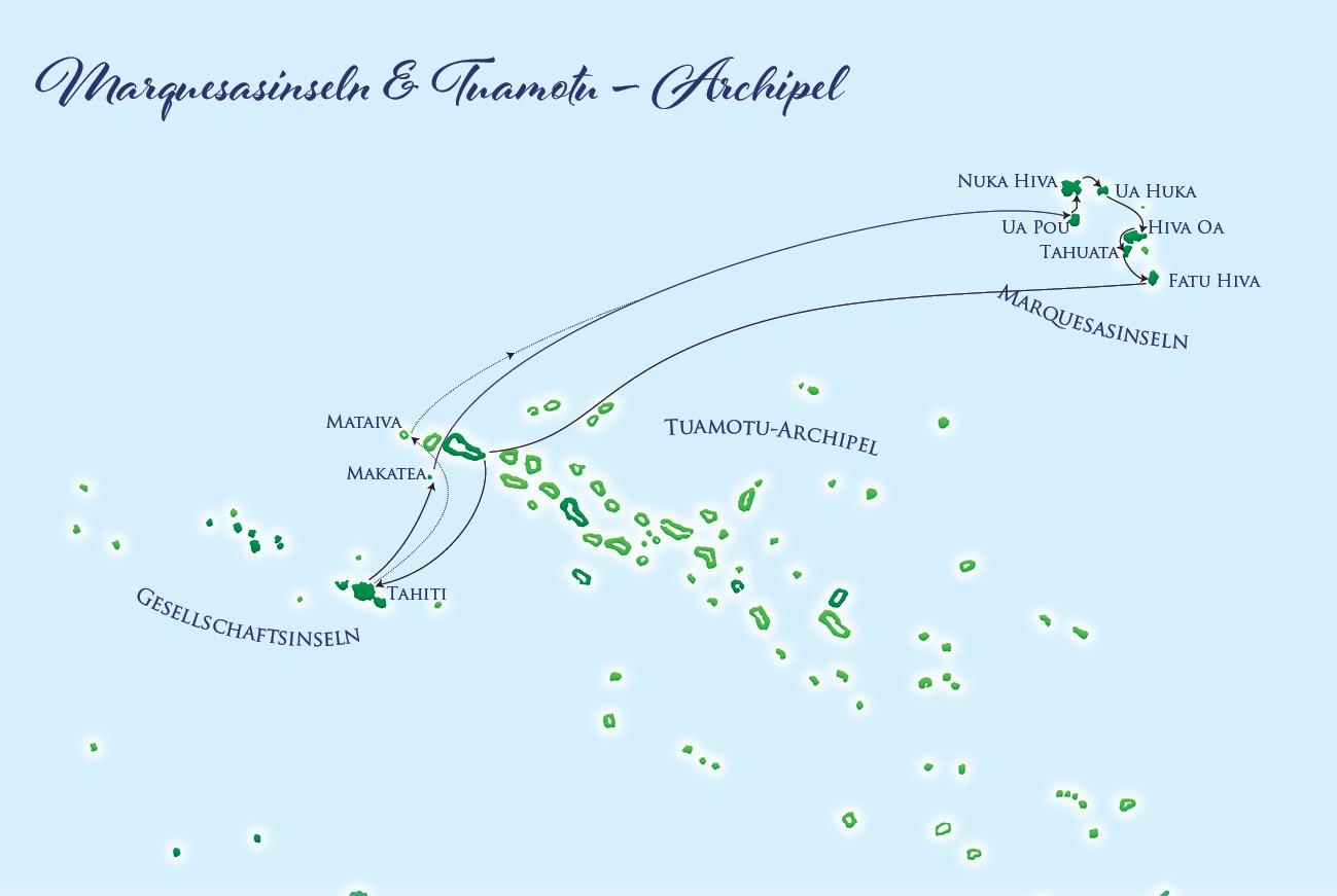 Karte - Marquesas Islands 2022