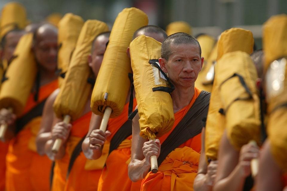 Buddhistische Mönche, Bangkok