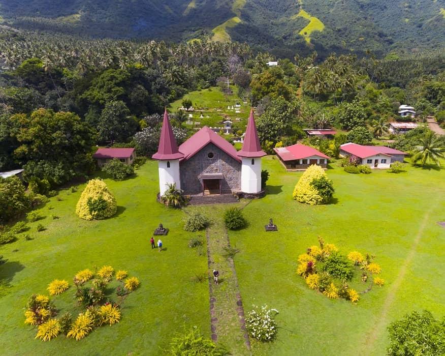 Kirche, Aranui V, Nuku Hiva