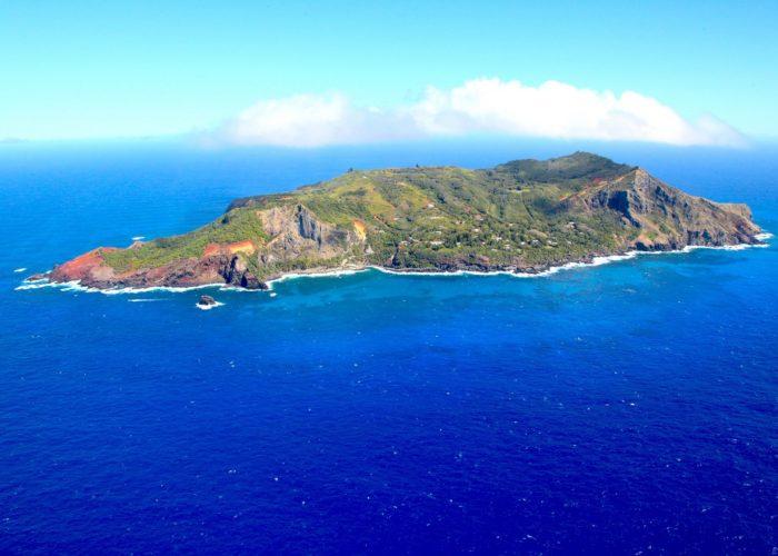 Aerial shot of Pitcairn © RSPB