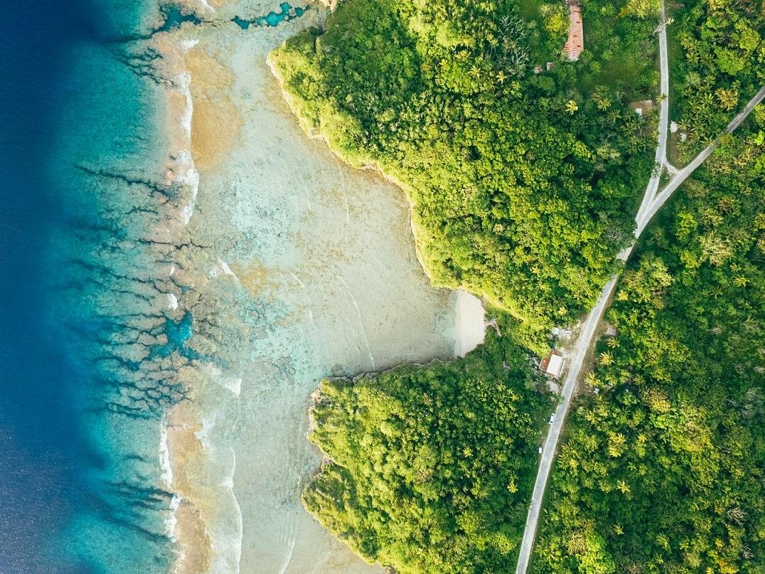 Niue, Küste aus der Vogelperspektive © Niue Tourism