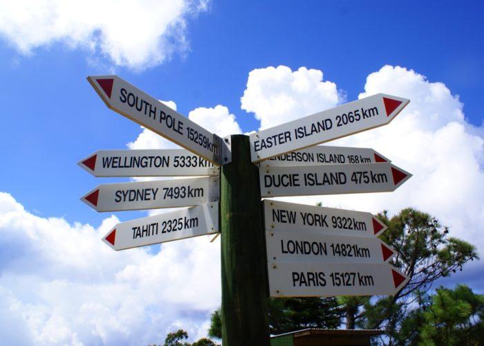 Pitcairn Distance Signs © Pitcairn Tourism