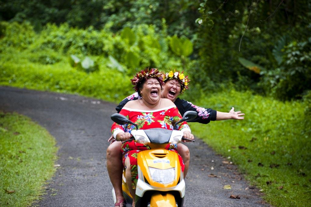 Cook Island Happy Ladies © David Kirkland