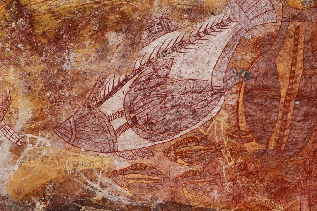 Aboriginal Felsmalerei, Kakadu Nationalpark, Australien