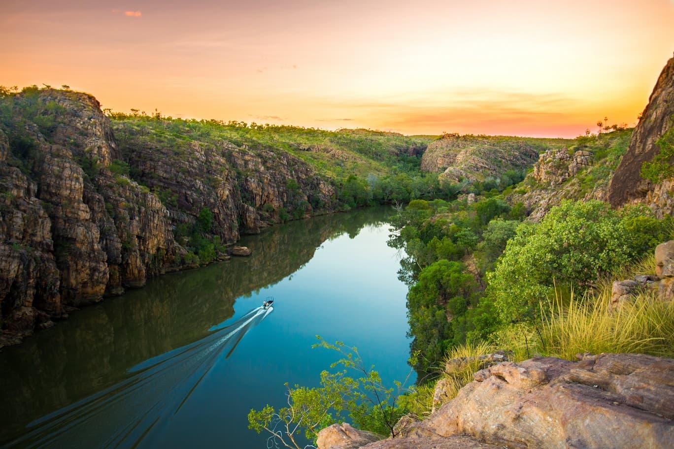 Katherine Gorge, Nitmiluk Nationalpark, Australien © Sam Earp- Tourism NT