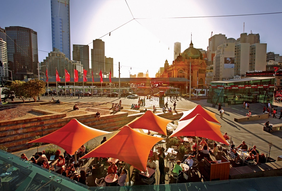 Melbourne, Federation Square © AAT Kings