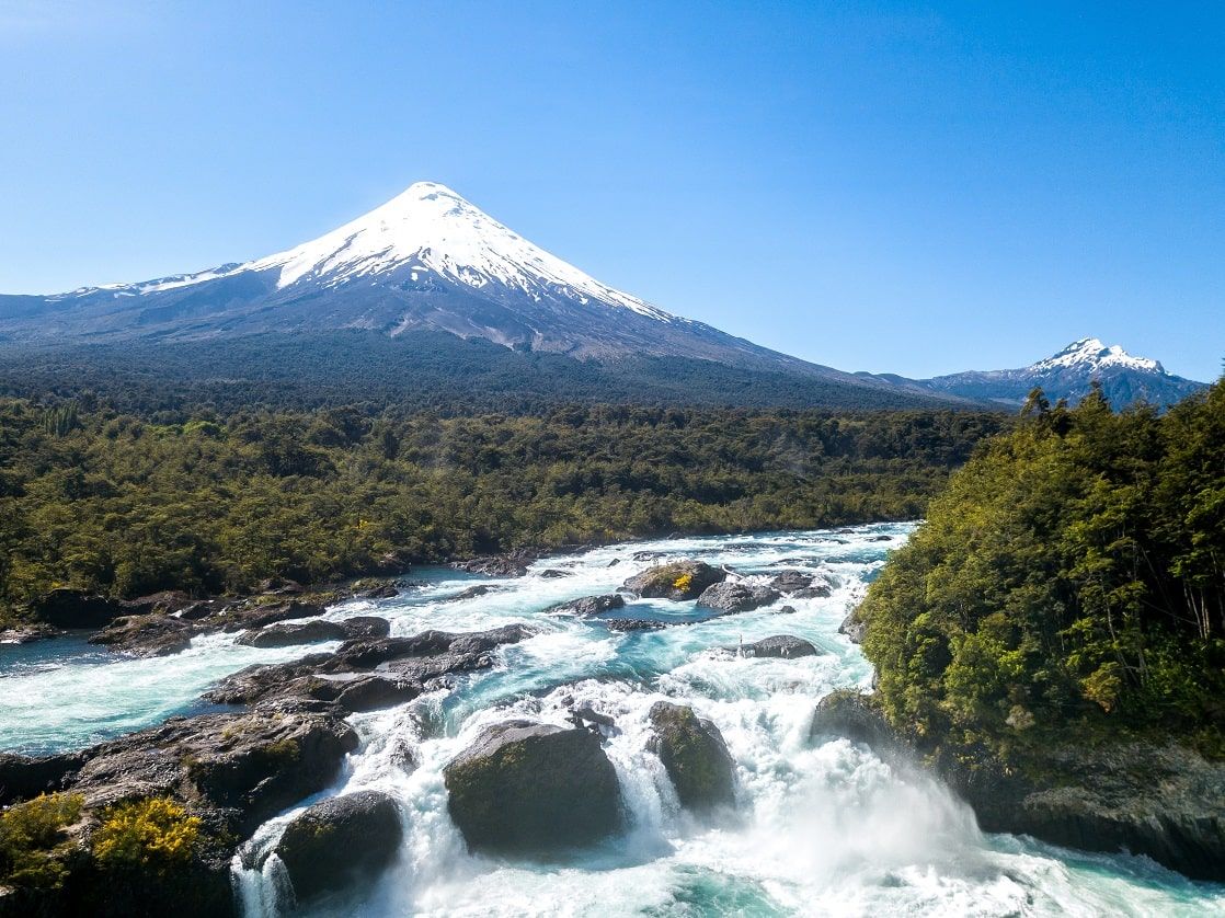 Vulkan Osorno, Wasserfälle Petrohue, Chile