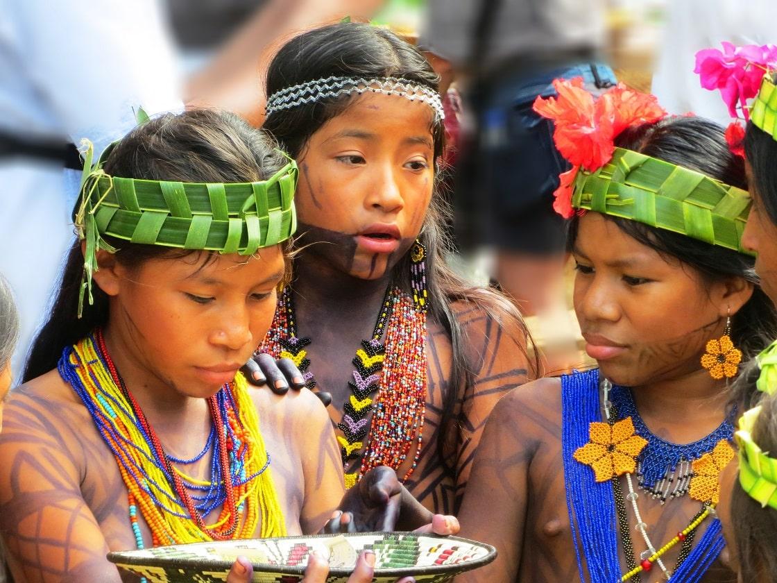 Kinder, Embera Village, Panama, Variety Cruises