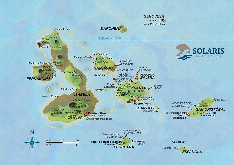 Solaris, Karte Route A