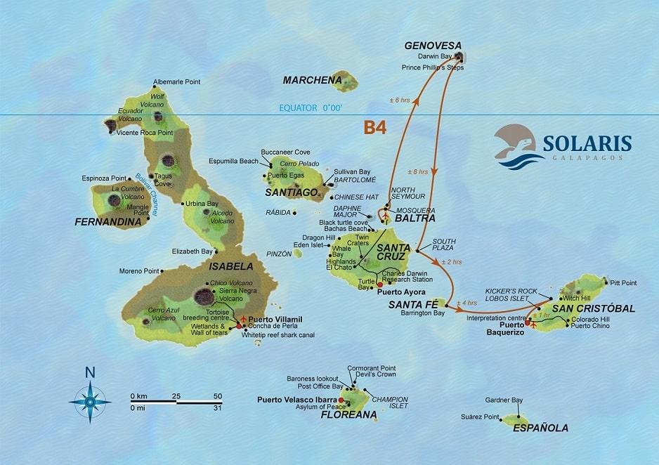 Solaris, Karte Route B4