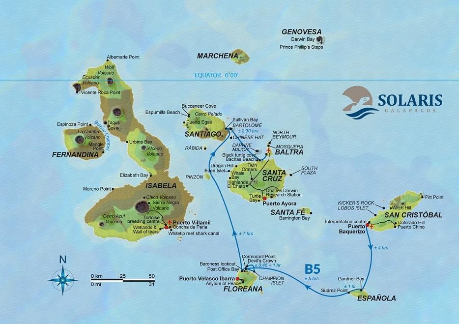 Solaris, Karte Route B5